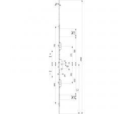 Dverový zámok MACO Z-TS  2xháky  + 2 i.S. ovládaný kľúčom, 16/92/08
