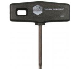 T-kľúč k upevňovaniu uholníkov k nožniciam