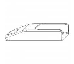 MACO rámový protikus pre hladký falc 18 mm