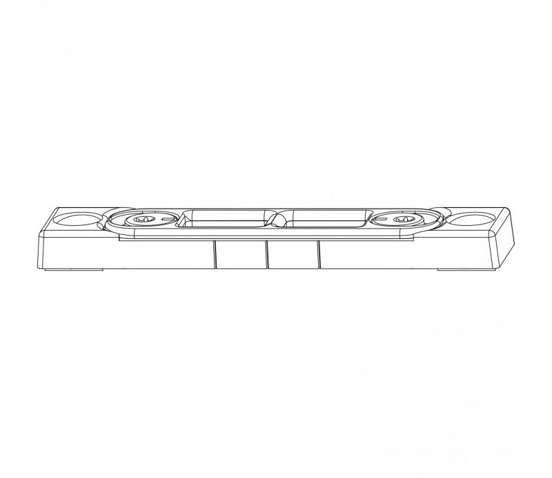 MACO rámový okenný protikus pre zástrč hladký falc 18 mm