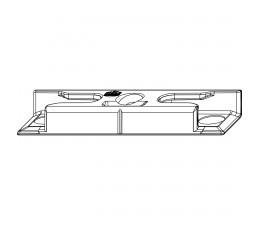 MACO rámový bezpečnostný protikus pre hladký falc 18 mm i.S.
