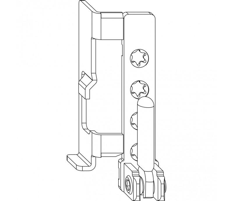 MACO rámové ložisko pre drevené okná 12/18 šrubovacie