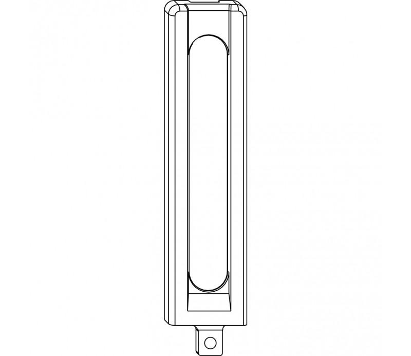 MACO krytka pod rámové ložisko dlhá