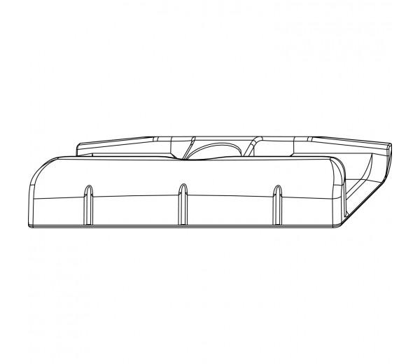 MACO rámový protikus pre hladký falc 24 mm