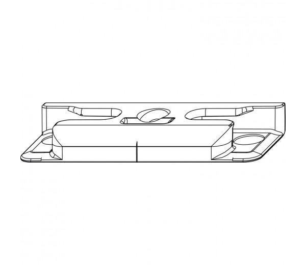 MACO bezpečnostný rámový protikus pre hladký falc 24 mm