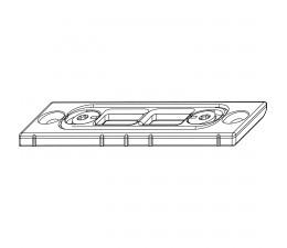 MACO rámový protikus pre spodnú zástrč hladký falc 24 mm