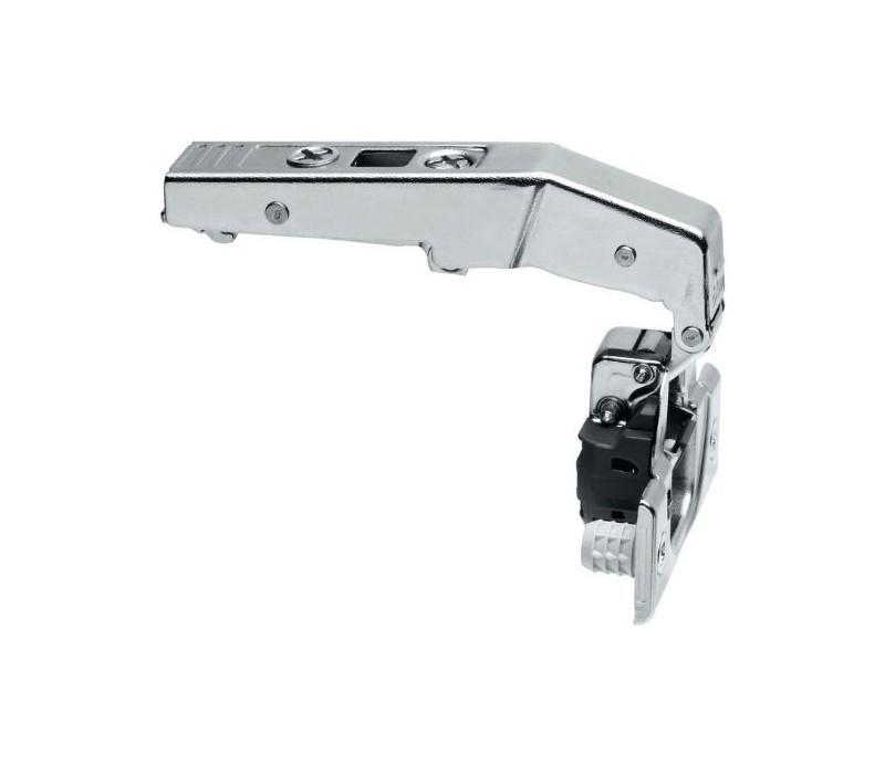 BLUM CLIP top záves na profil. dvere 95°, zalomený 18 mm s pruž.,nalisovanie