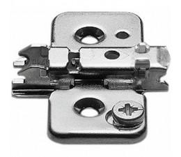 BLUM CLIP krížová montážna podložka s excentrom, skrutky Spax,odst. 0 mmtrom, oceľ, Spax-skrutky, odst.3mm