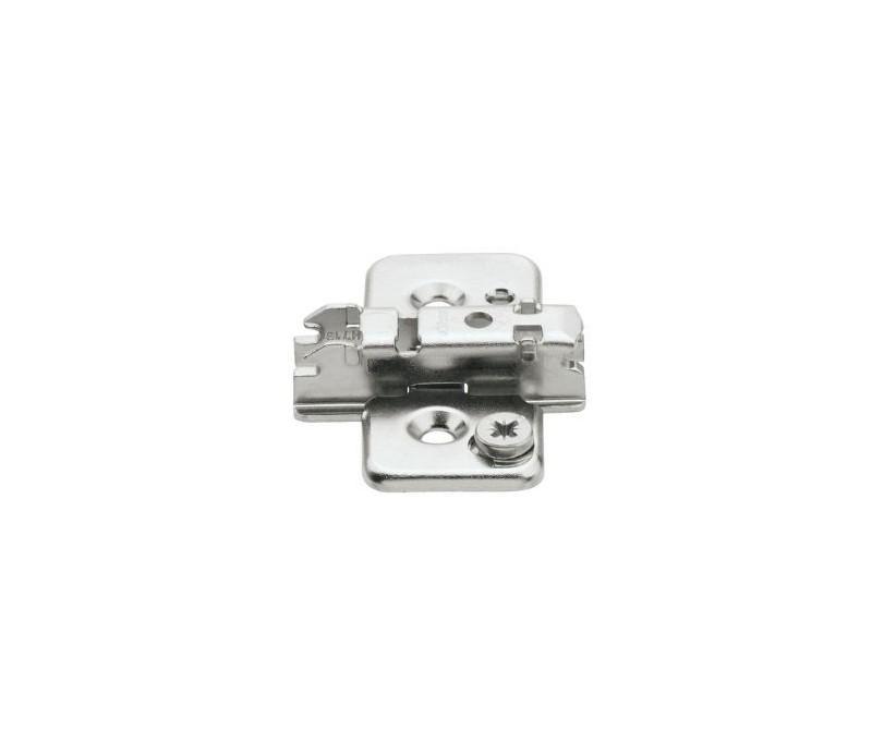 BLUM CLIP krížová montážna podložka s excentrom, skrutky Spax, odst. 3 mm