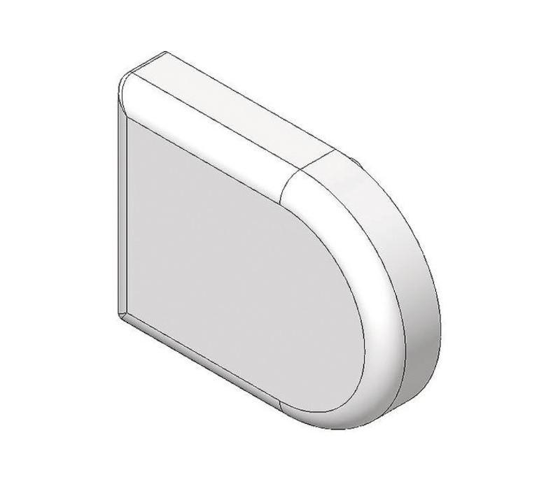 BLUM CLIP top krytka misky závesu na sklenené dvierka, tvar-D, mat.ponikl.