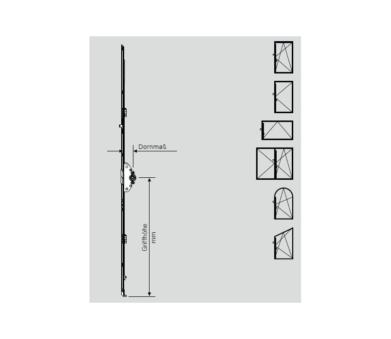 ROTO  otváravo-sklopná prevodovka uzamykacia