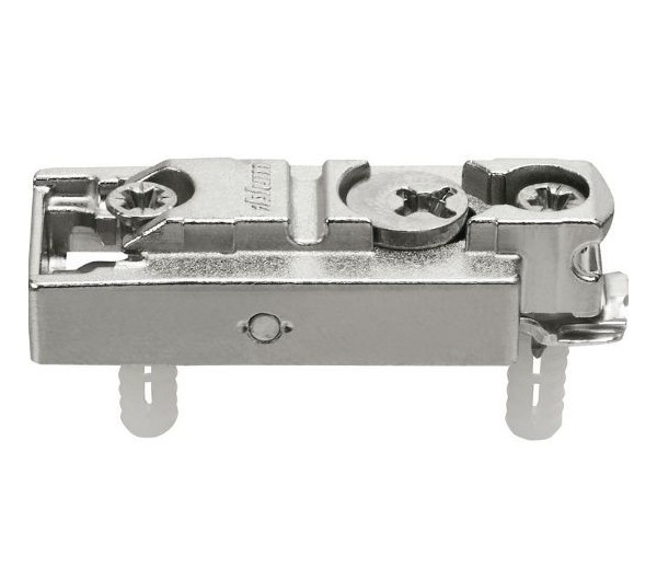BLUM CLIP priama mont.podložka s excentrom,mont.s rozperkami EXPANDO, odst.3mm