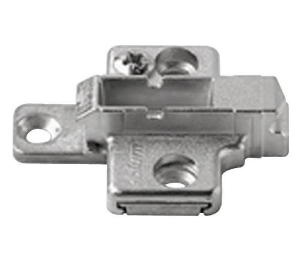 BLUM CLIP krížová montážna podložka, systémové skrutky,VN:2-dielna,odst.3mm
