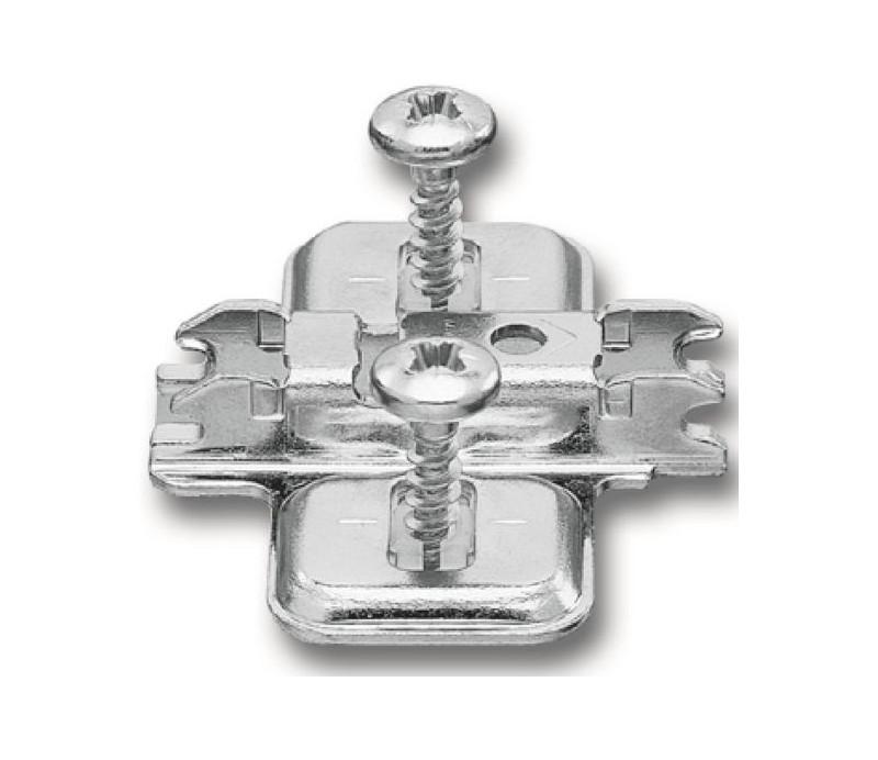 BLUM CLIP krížová mont. podložka, predm.skrutky Spax, VN:pozdl.otvor,odst.0mm
