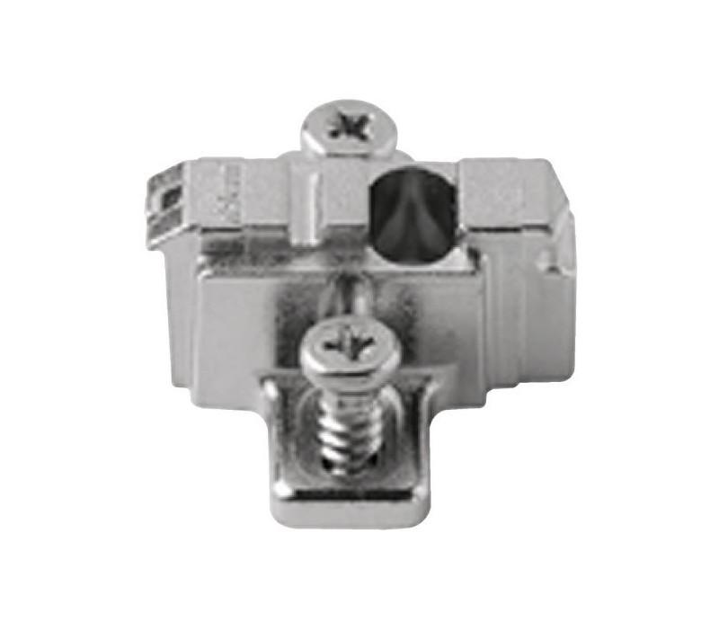 BLUM CLIP krížová mont.podložka, predm.systém.skrutky,VN:pozdl.otvor,odst.0mm