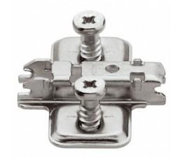 BLUM CLIP krížová mont.podložka,predm.systém.skrutky,VN:pozdl.otvor,odst.0mm