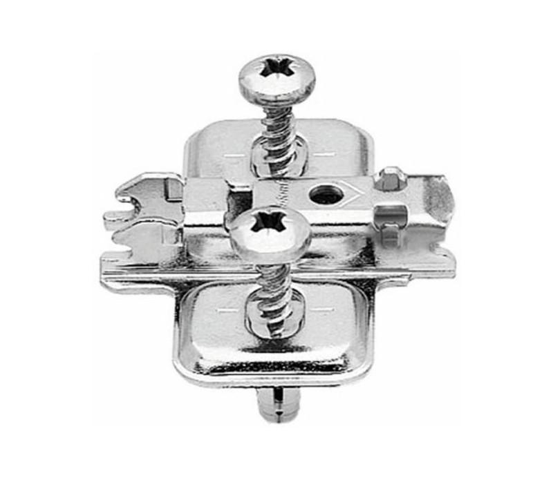 BLUM CLIP krížová mont. podložka, EXPANDO, VN: pozdĺžny otvor, odst. 0 mm