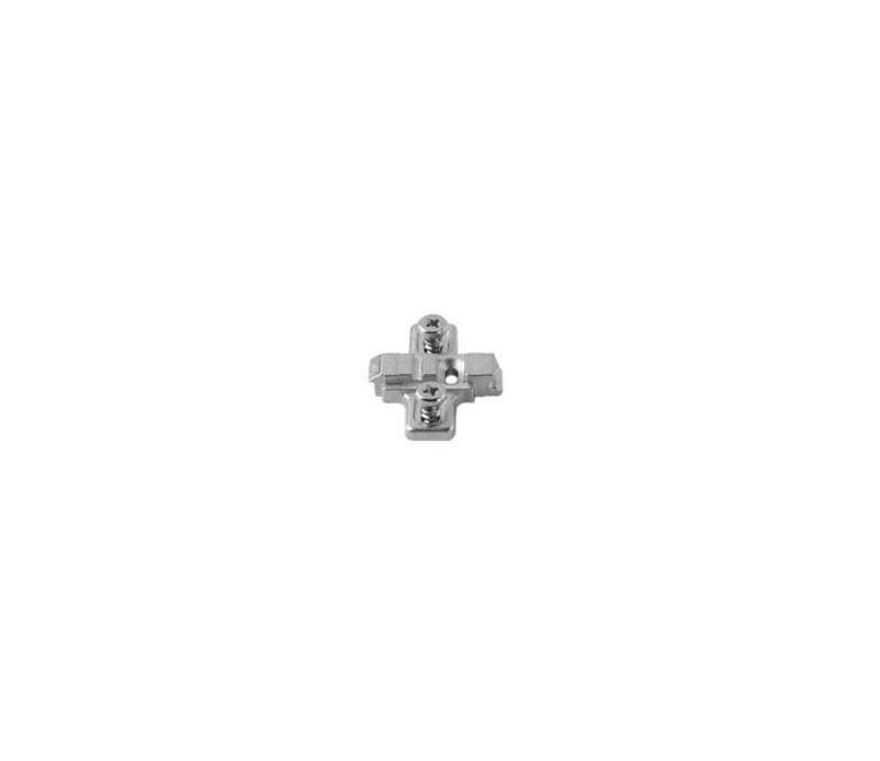 BLUM CLIP krížová mont.podložka,predm.syst.skrutky,VN: pozdl.otvor, 0mm