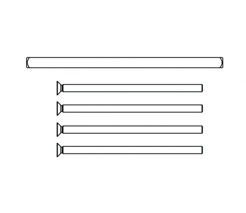 Sada skrutiek a štvorhranu pre vysokú a nízku kľučku HARMONY 76-86 mm