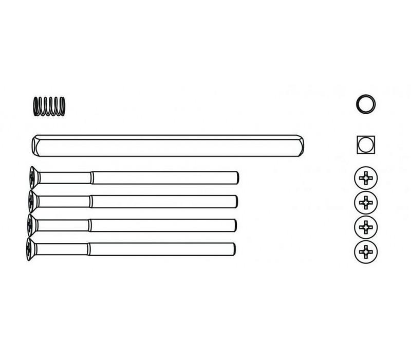 Sada skrutiek, štvorhranu a pružiny pre plochú kľučku HARMONY 64-72 mm