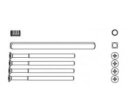 Sada skrutiek, štvorhranu a pružiny pre nplochú kľučku HARMONY 82-92 mm