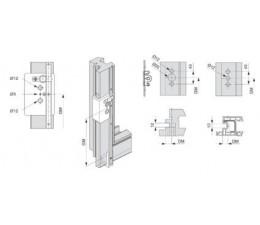 Balkónová kľučka Harmony vonkajšia nízka PZ s rozetou