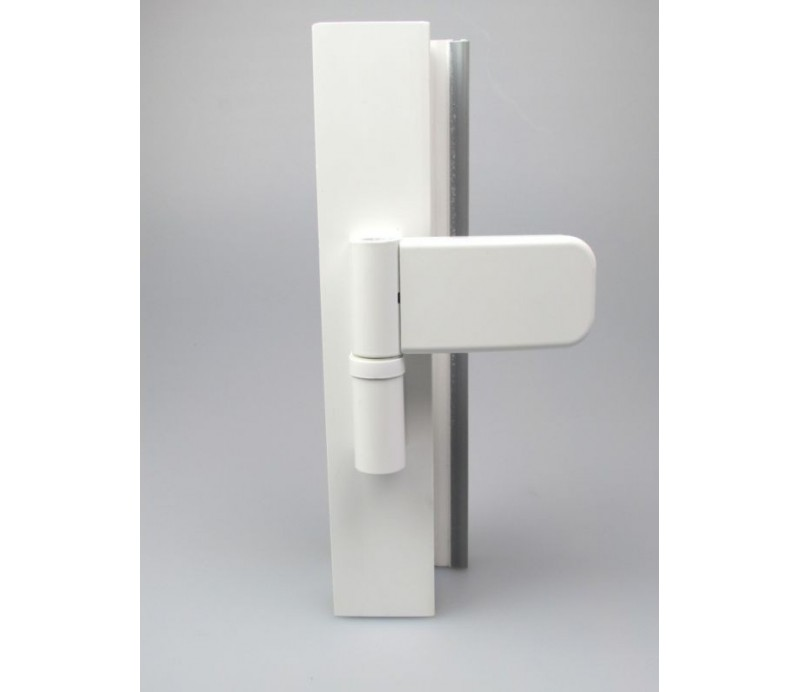 Dverový záves 3D K4145 biely pre plastové dvere - SIKU