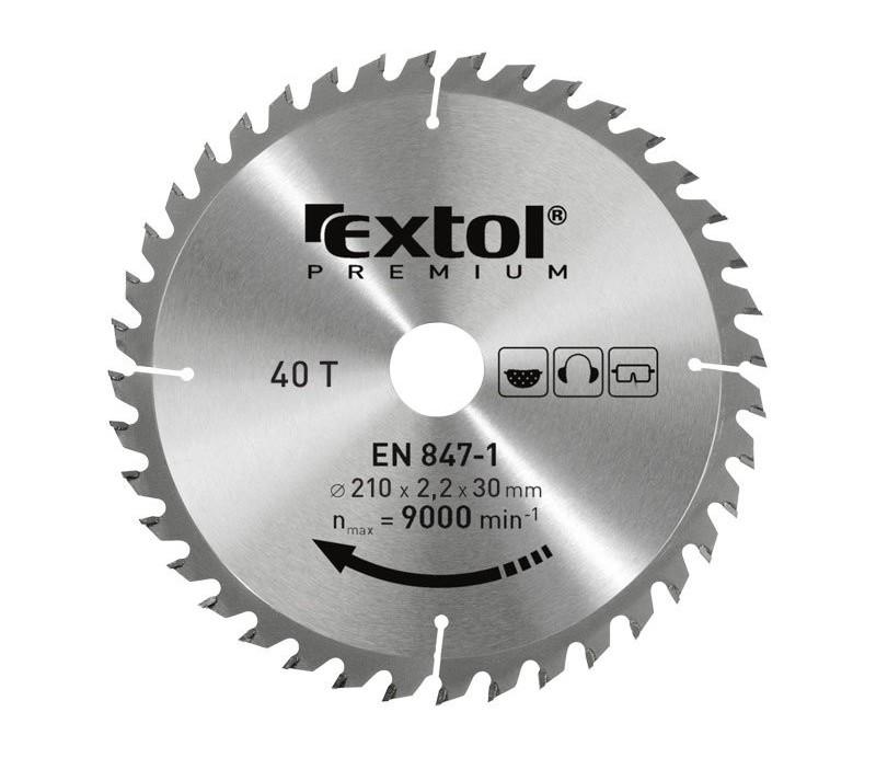 EXTOL - Kotúč pílový s SK plátkami, 210x30x3,2mm