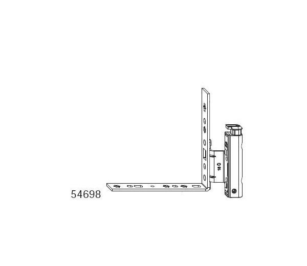 MACO krídlový diel spodného ložiska pre drevo 12/18 AS šrubovací