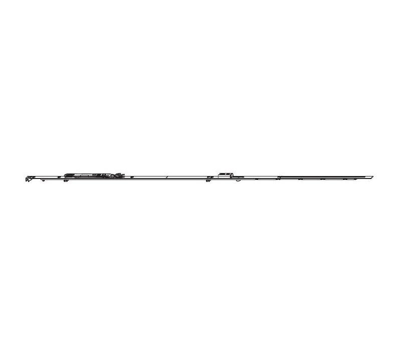 MACO  štulpová balkónová prevodovka do 16mm drážky pre FFH 1951-2200 mm MULTI-MATIC
