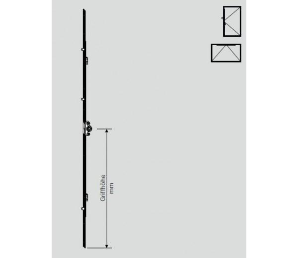 ROTO NT sklopný prevod 601-800 mm