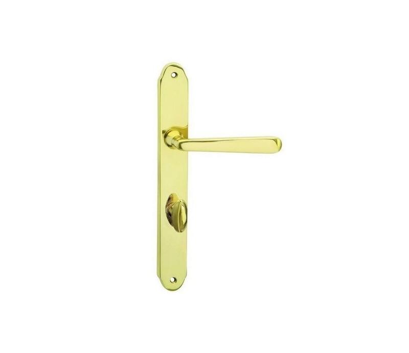 Interiérová kľučka COBRA 28-53-1 WC 90 mosadz leštená