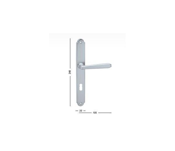 Interiérová kľučka COBRA 29-21-2 WC 90 chróm matný