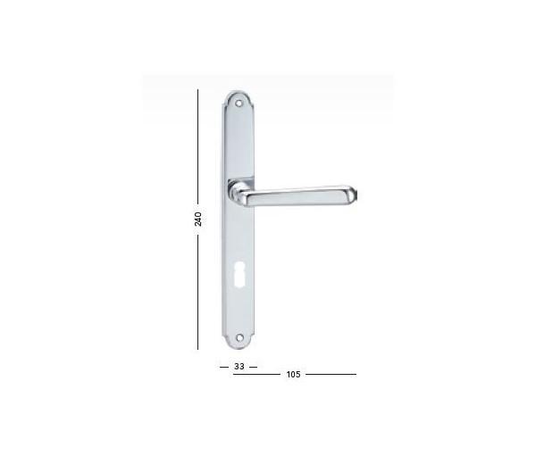Interiérová kľučka COBRA - 29-27-1 - PZ 90 chróm lesklý