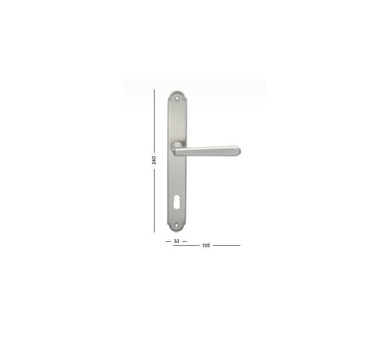 Interiérová kľučka COBRA - 28-31-3 - PZ 90 nikel matný