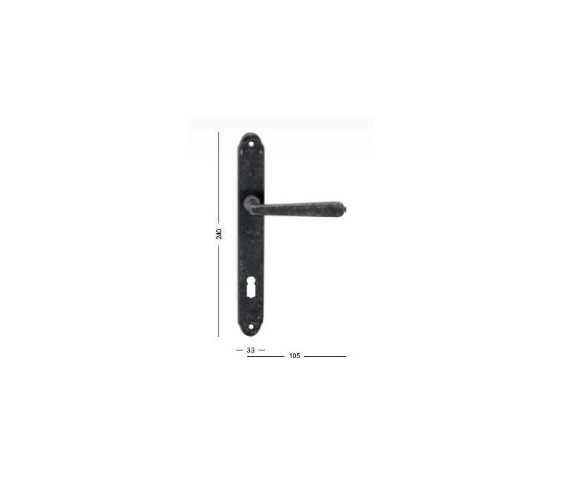 Interiérová kľučka COBRA 28-59-3 BB 90 rustikálna