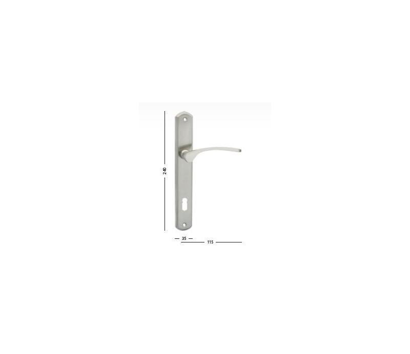 Interiérová kľučka COBRA - 28-33-4 - PZ 90 nikel matný