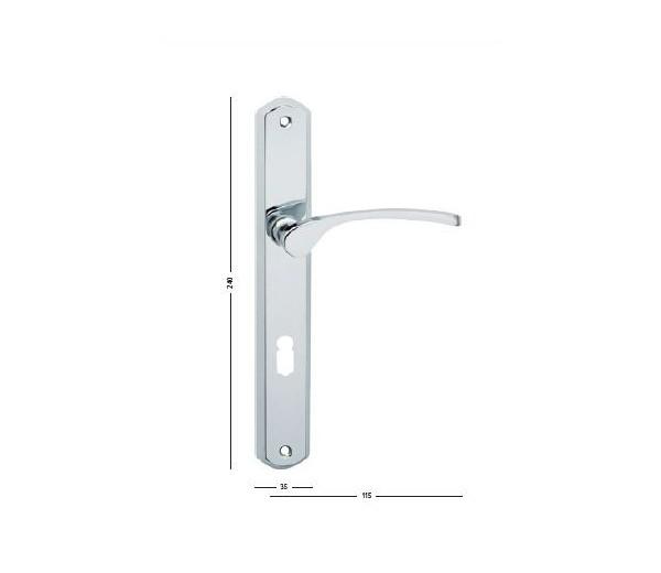 Interiérová kľučka COBRA 29-27-2 - PZ 90  chróm lesklý