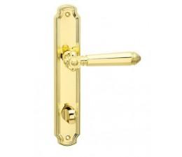 Interiérová kľučka COBRA 28-53-2 WC 90 mosadz leštená