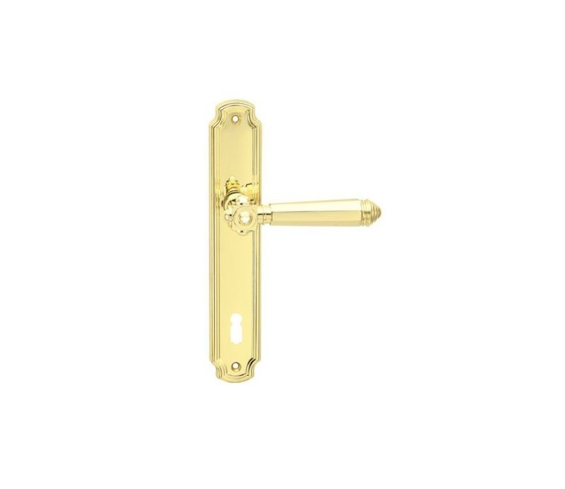 Interiérová kľučka COBRA 28-53-2 BB 90 mosadz leštená