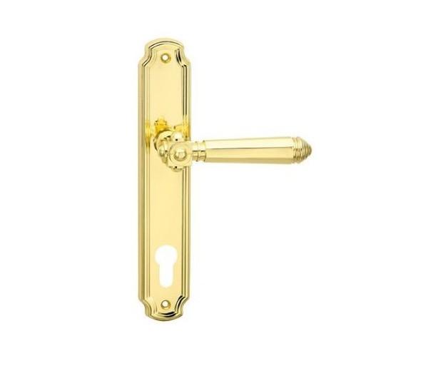 Interiérová kľučka COBRA 28-53-2 PZ 90 mosadz leštená