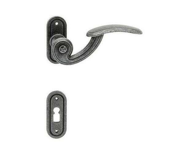 Interiérová kľučka COBRA  28-60-5 BB rustikálna čierna