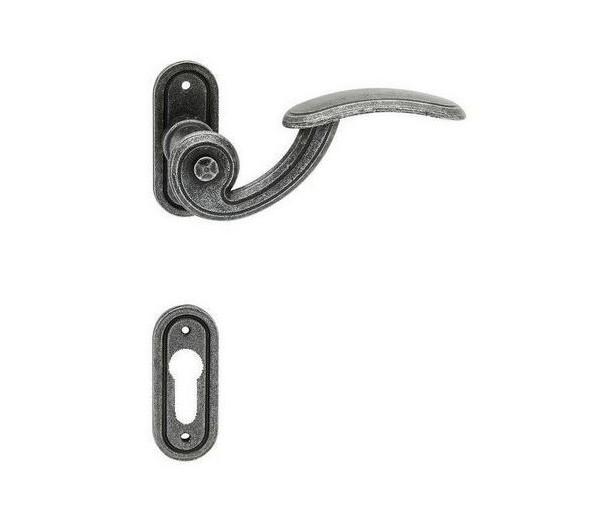 Interiérová kľučka COBRA 28-60-5 PZ  rustikálna čierna