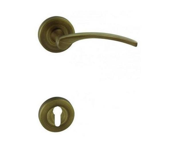 Interiérová kľučka COBRA - 28-49-4-R - PZ bronz česaný