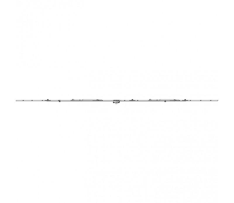 Stredová hran. závora 1301- 1700 mm s namontovanou nožnicou