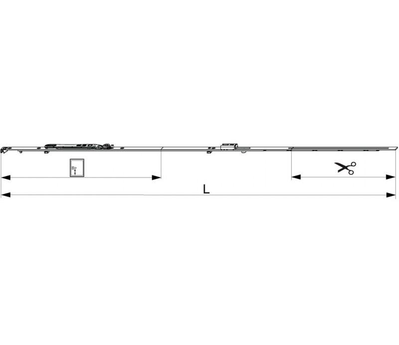 MACO  štulpová prevodovka do 16mm drážky pre FFH 661-840 mm MULTI-MATIC