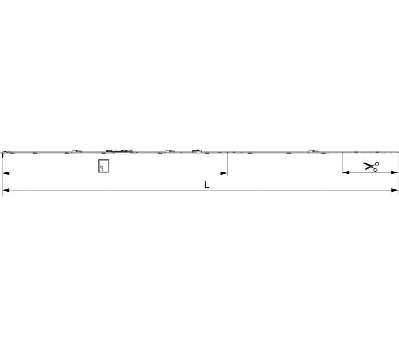 MACO  štulpová prevodovka do 7/8 mm drážky pre FFH 1951-2200 mm MULTI-MATIC