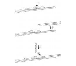 MACO horné ukončenie štulpovej prevodovky pre drážku 7/8 MULTI-MATIC