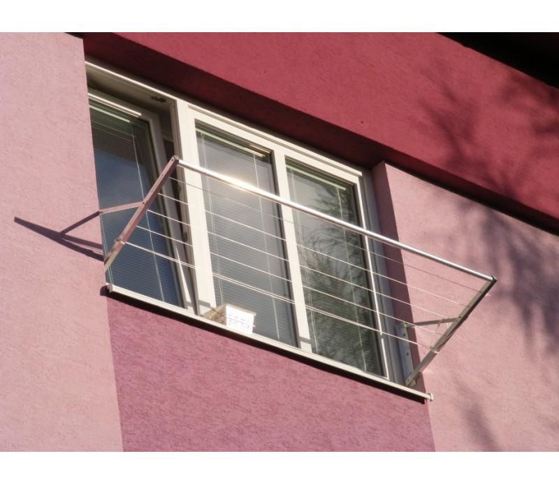 Okenný sušiak prádla strieborný F01
