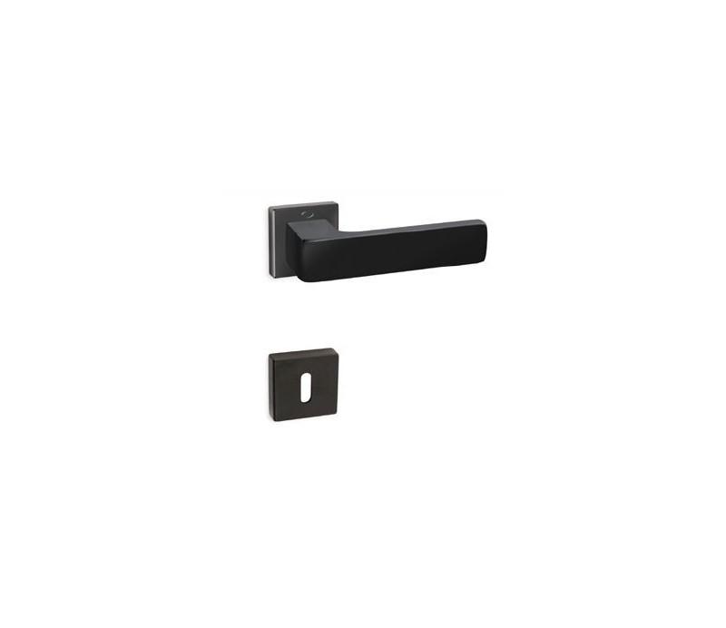 Interiérová kľučka COBRA 28-41-5 PZ nikel čierny